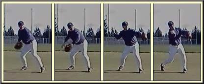 shortstop throwing to second